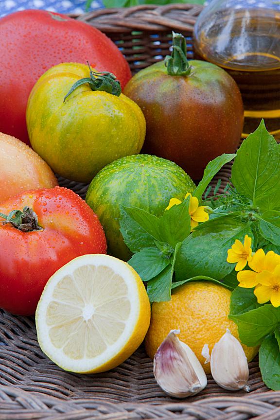 Tomato and Lemon Basil Salad