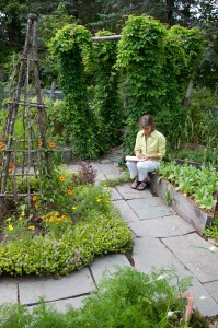ellen ecker ogden in the  garden
