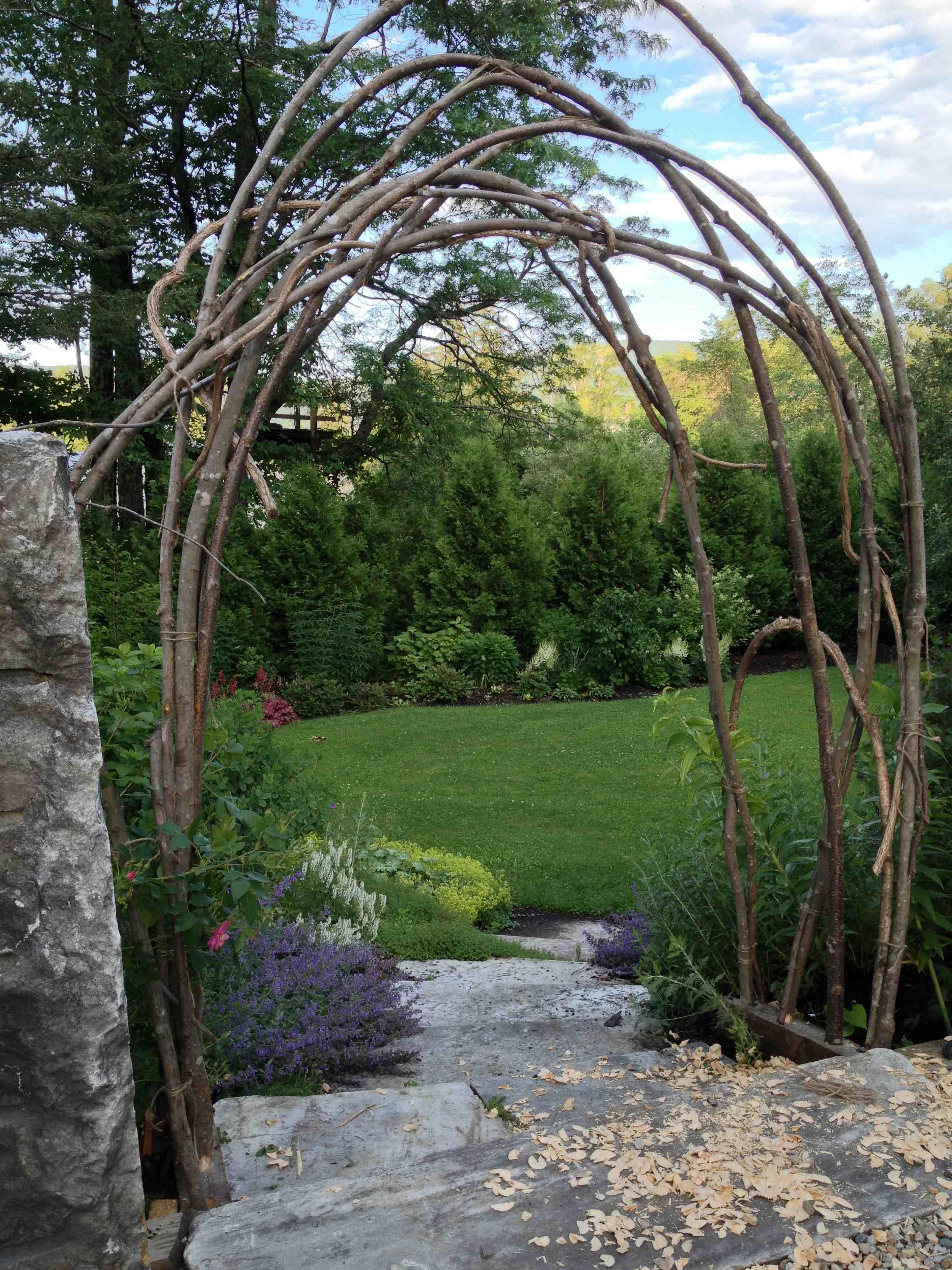How To Build A Rustic Trellis Ellen Ecker Ogden