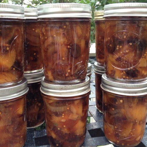 Ginger Peach Chutney. Recipe by Ellen Ogden