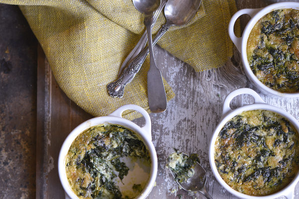Winter Spinach Souffle