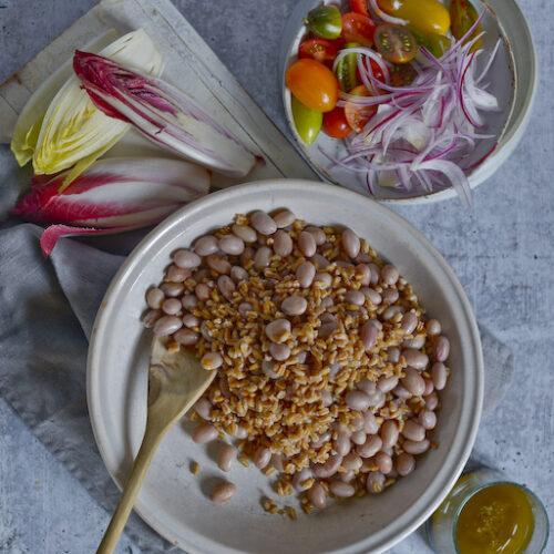 Borlotti Bean and Farro Salad